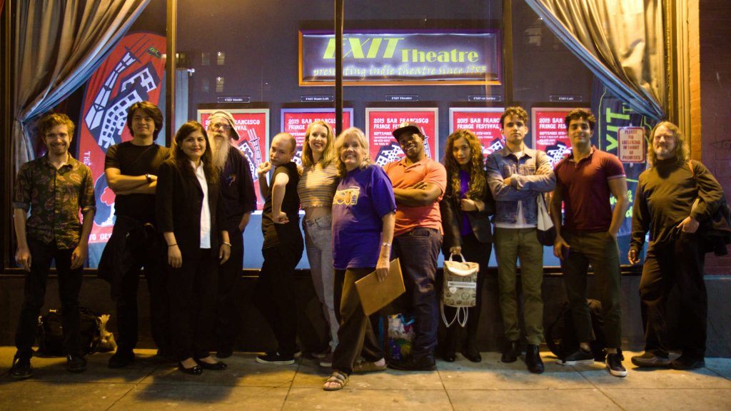 20/20 Cast & Crew in front of the EXIT Theatre in San Francisco